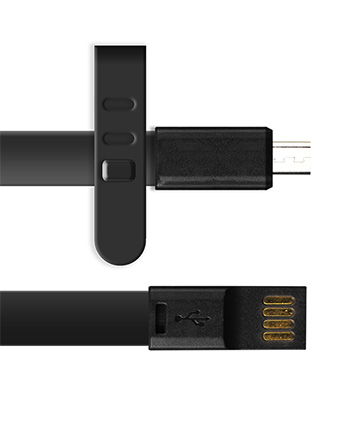 Micro USB Cable 3ft Long - Black